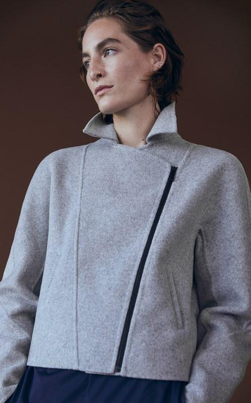 Outerwear | ASYMMETRICAL WOOL BIKER JACKET
