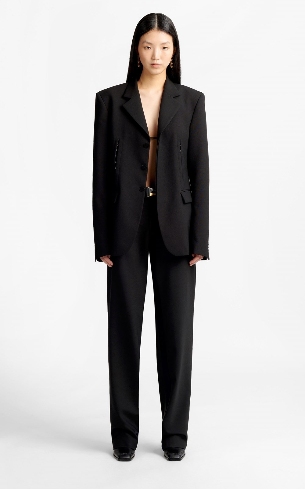 Outerwear | HOOK & EYE WOOL BLAZER