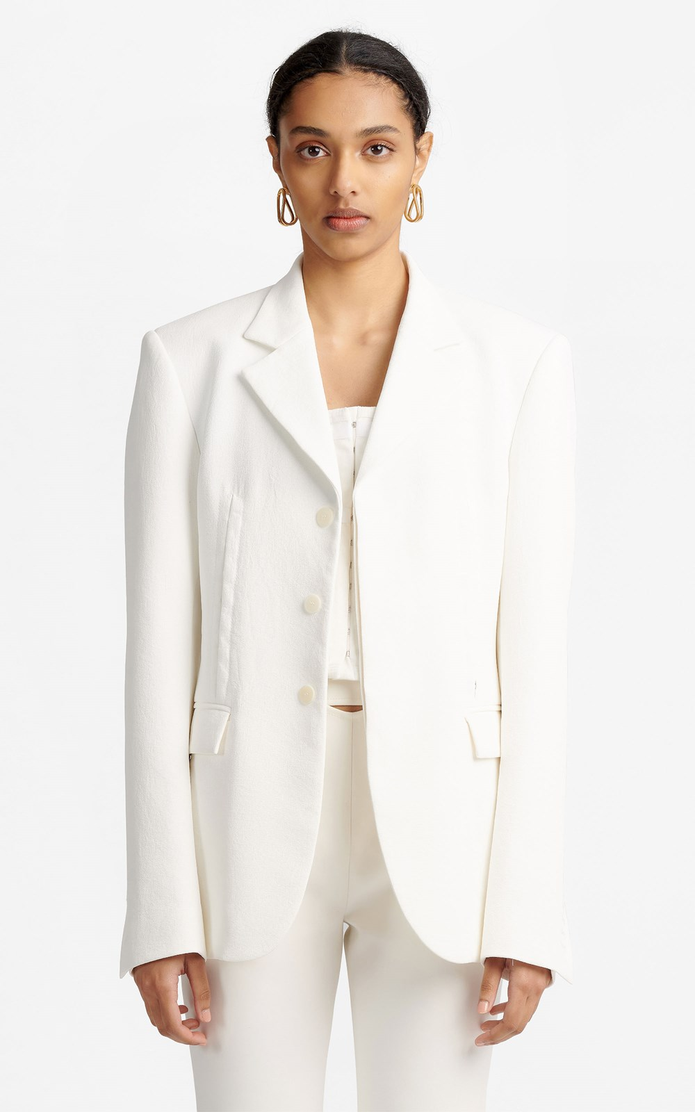 Unisex | HOOK & EYE WHITEWASH BLAZER