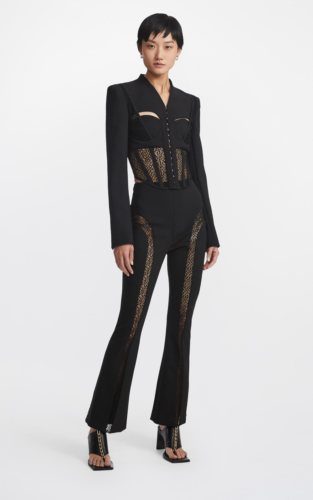Tops   SUSPENDED LACE BUSTIER JACKET
