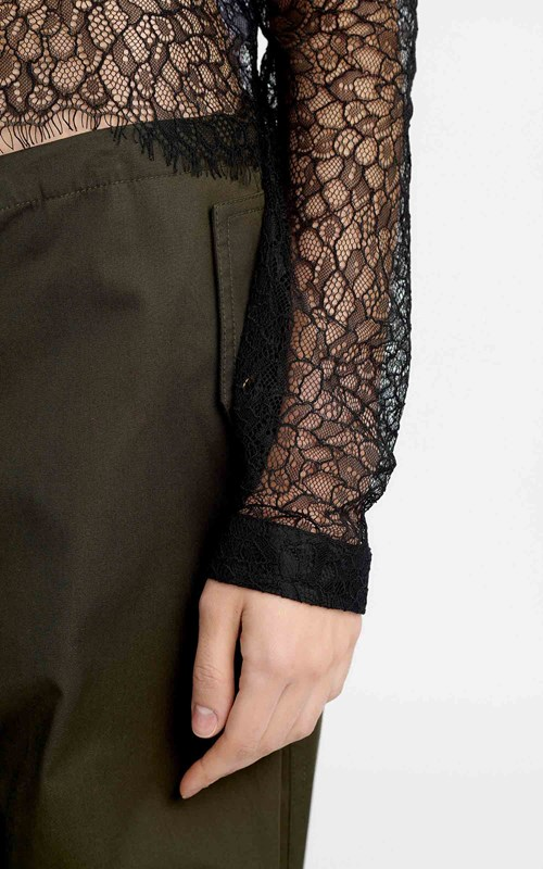 Tops | LACE FITTED SHIRT