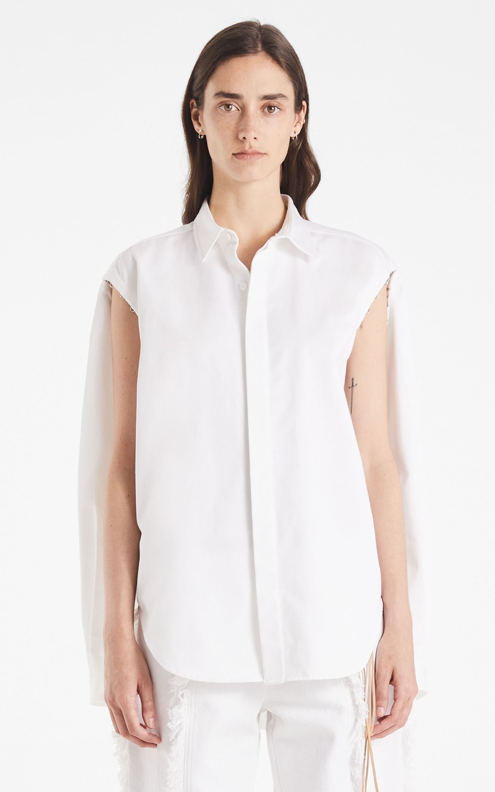 Tops  | DETACH HOOK SHIRT