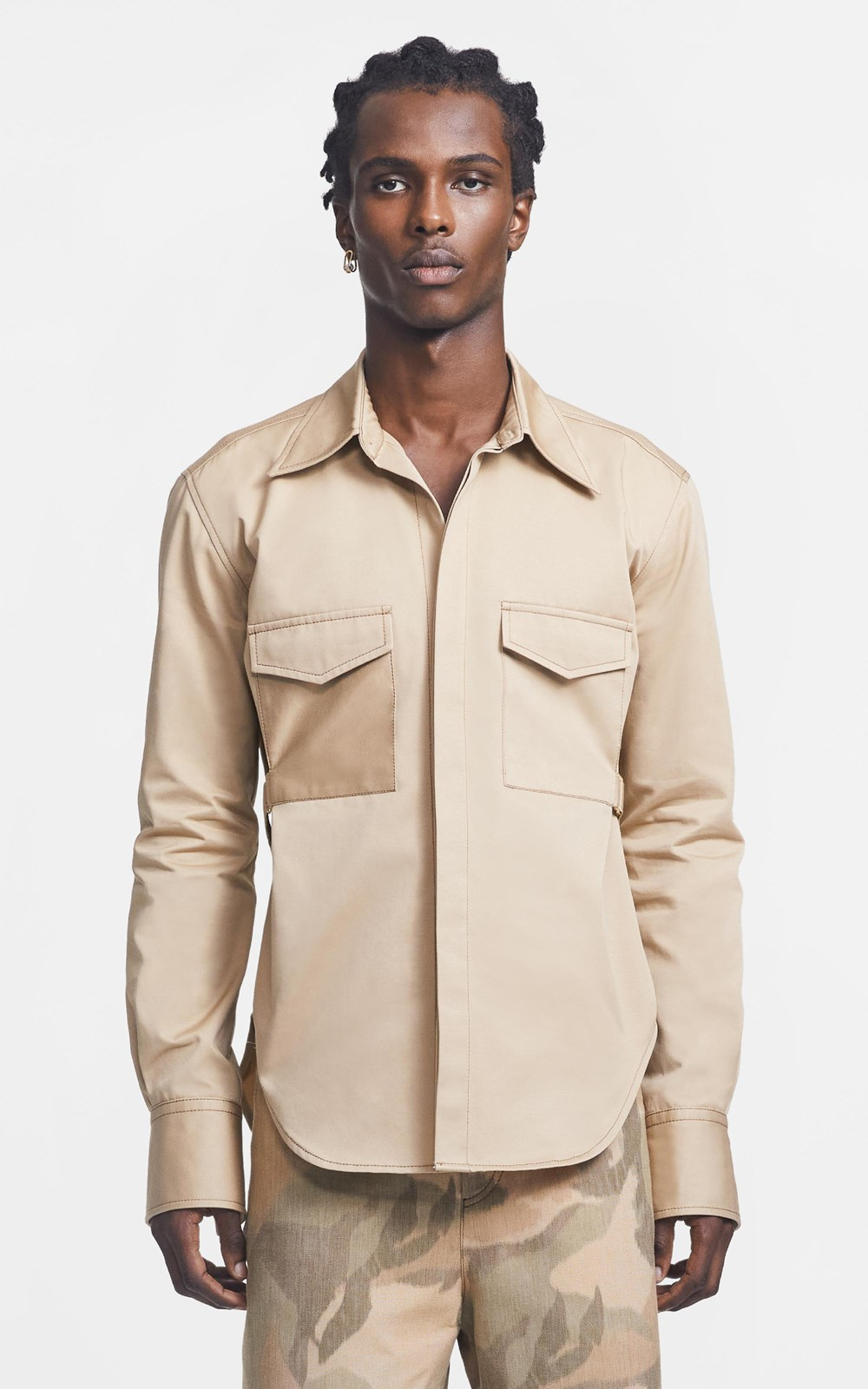 Tops | BELTED UTILITY SHIRT
