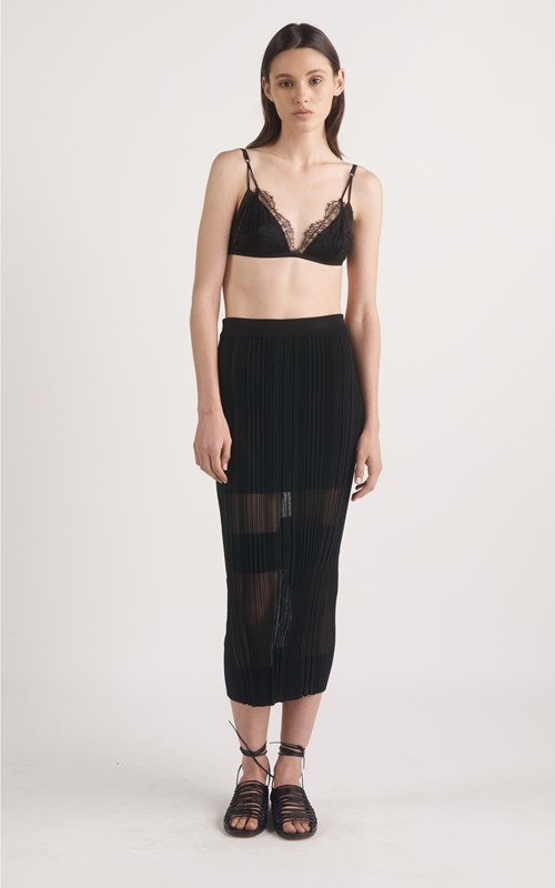 Knitwear | OPACITY PLEAT SKIRT