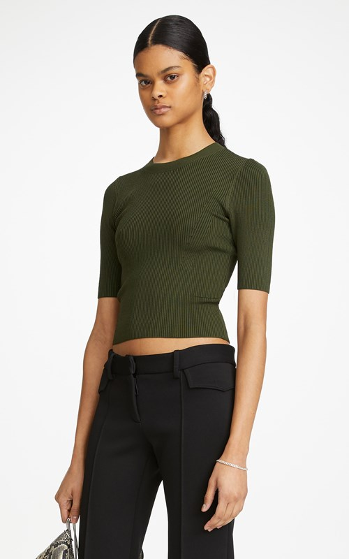 Knitwear | SHADOW CROPPED TEE