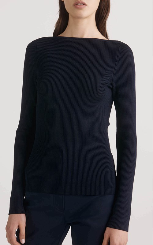 Knitwear  | SHADOW RIB LS