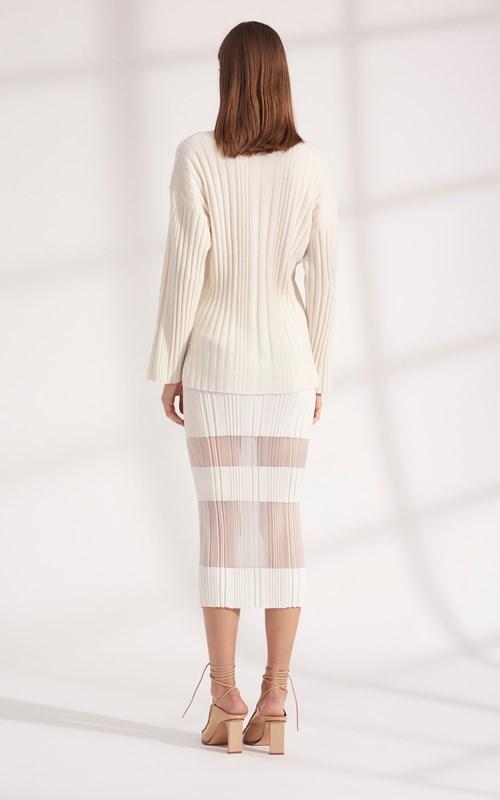 Knitwear | CORRUGATED PLEAT CASHMERE SWEATER