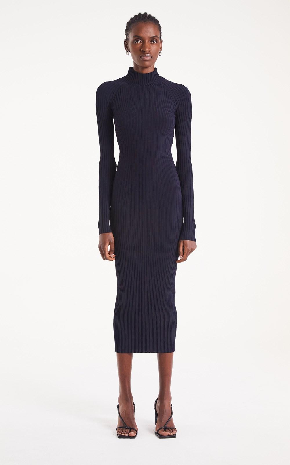 Dresses | STRIPE RIB TWIST DRESS