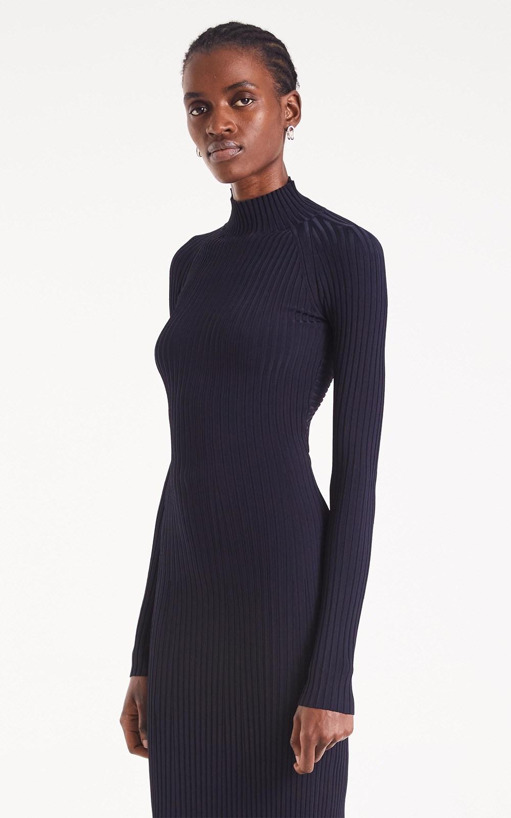 Knitwear | STRIPE RIB TWIST DRESS