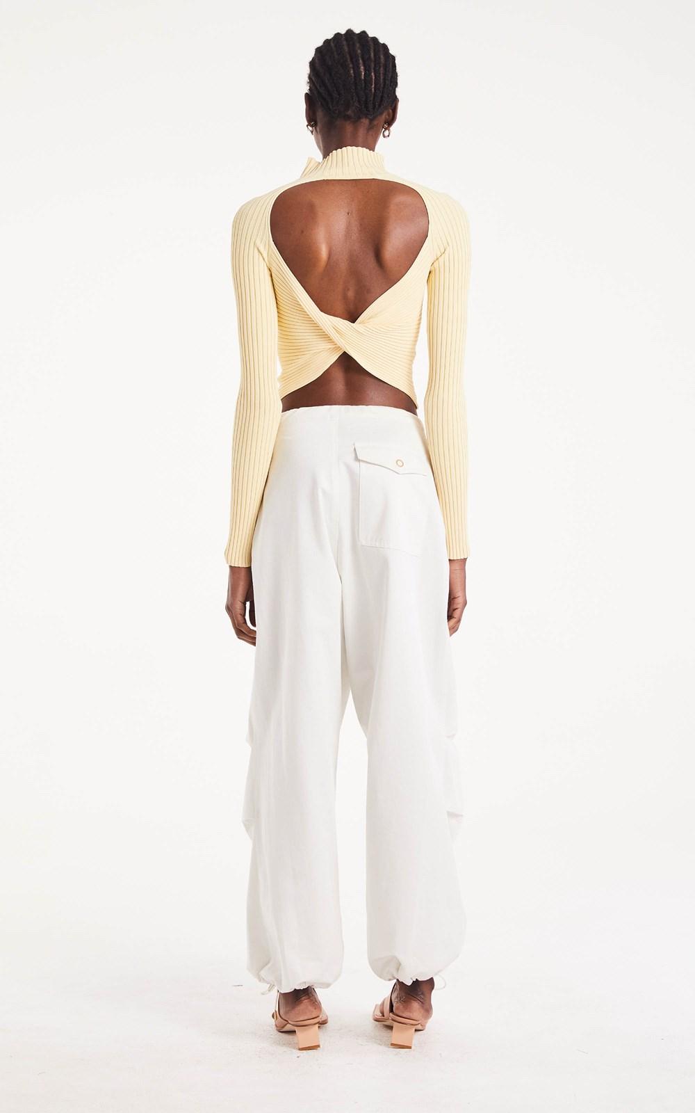 Knitwear | TWIST BACK LS TOP