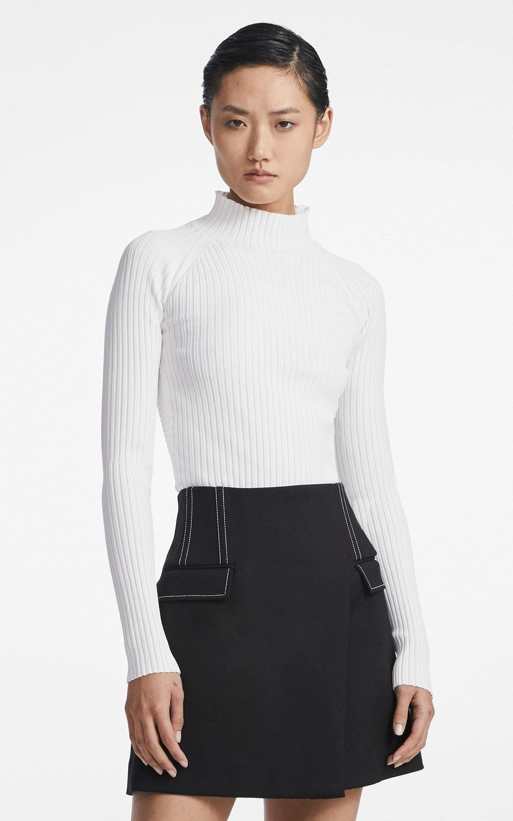 Knitwear | TWIST BACK LS TOP