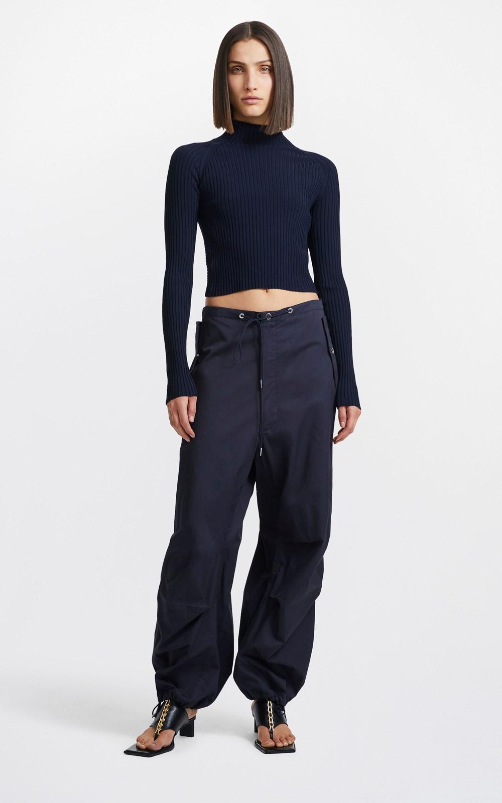 Knitwear   TWIST BACK LS TOP