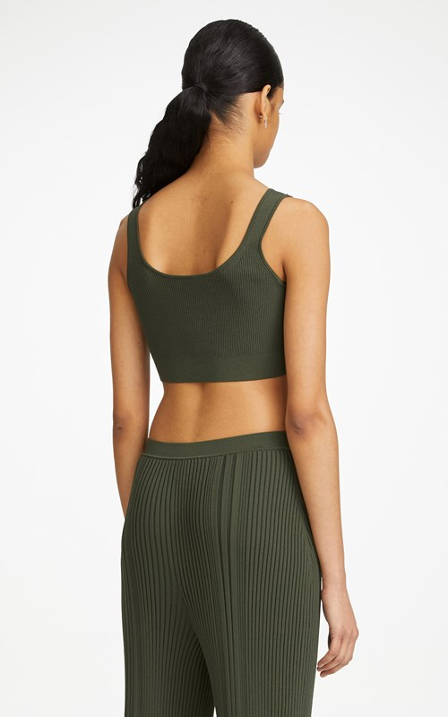 Tops  | PINNACLE PLEAT CROP TOP