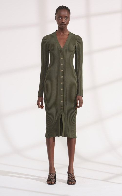 Knitwear | PINNACLE PLEAT CARDI DRESS