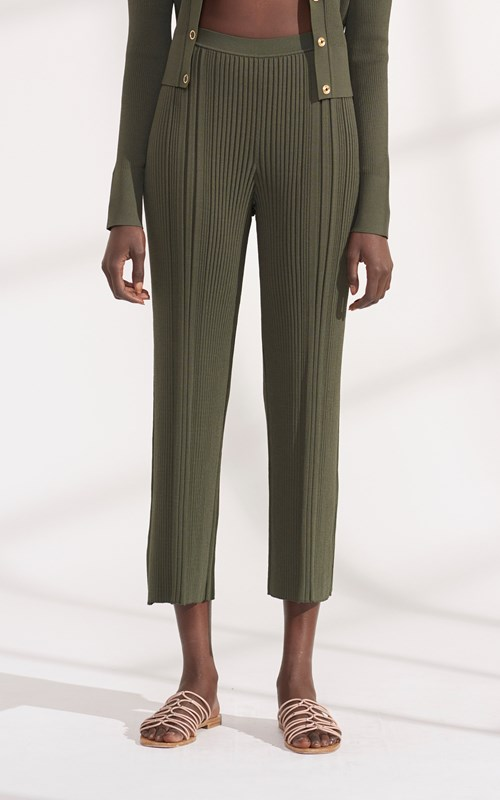 Pants | PINNACLE PLEAT CROPPED PANT