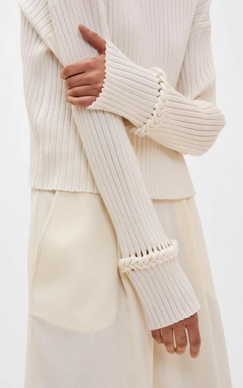 Knitwear | BRAID CUFF SWEATER