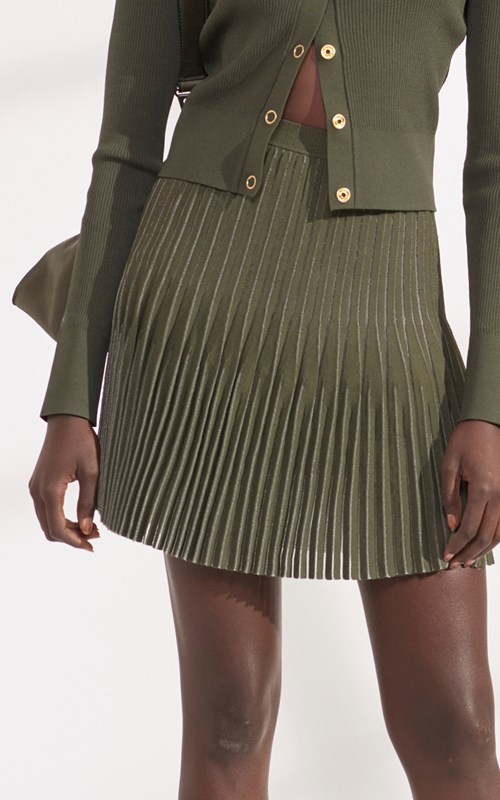 Knitwear  | GODET PLEAT MINI SKIRT
