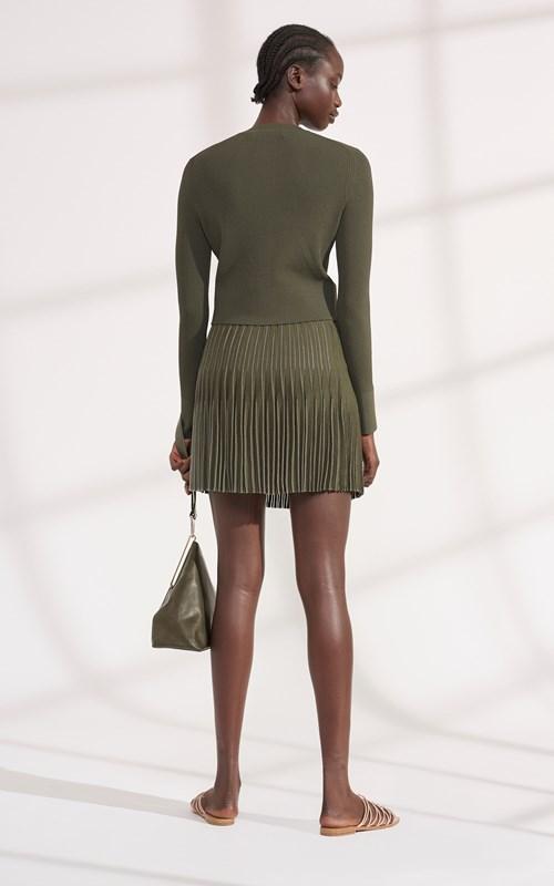Skirts | GODET PLEAT MINI SKIRT