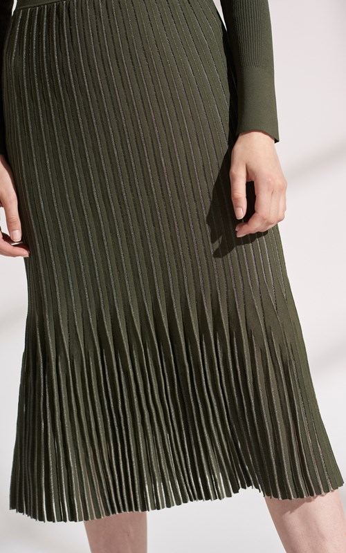 Skirts  | GODET PLEAT MIDI SKIRT