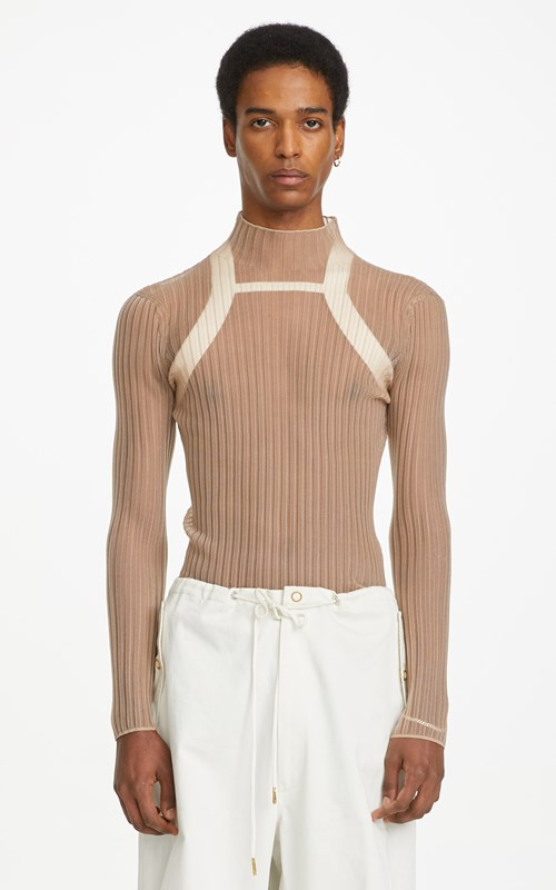 Unisex | CORRUGATED SHEER LS