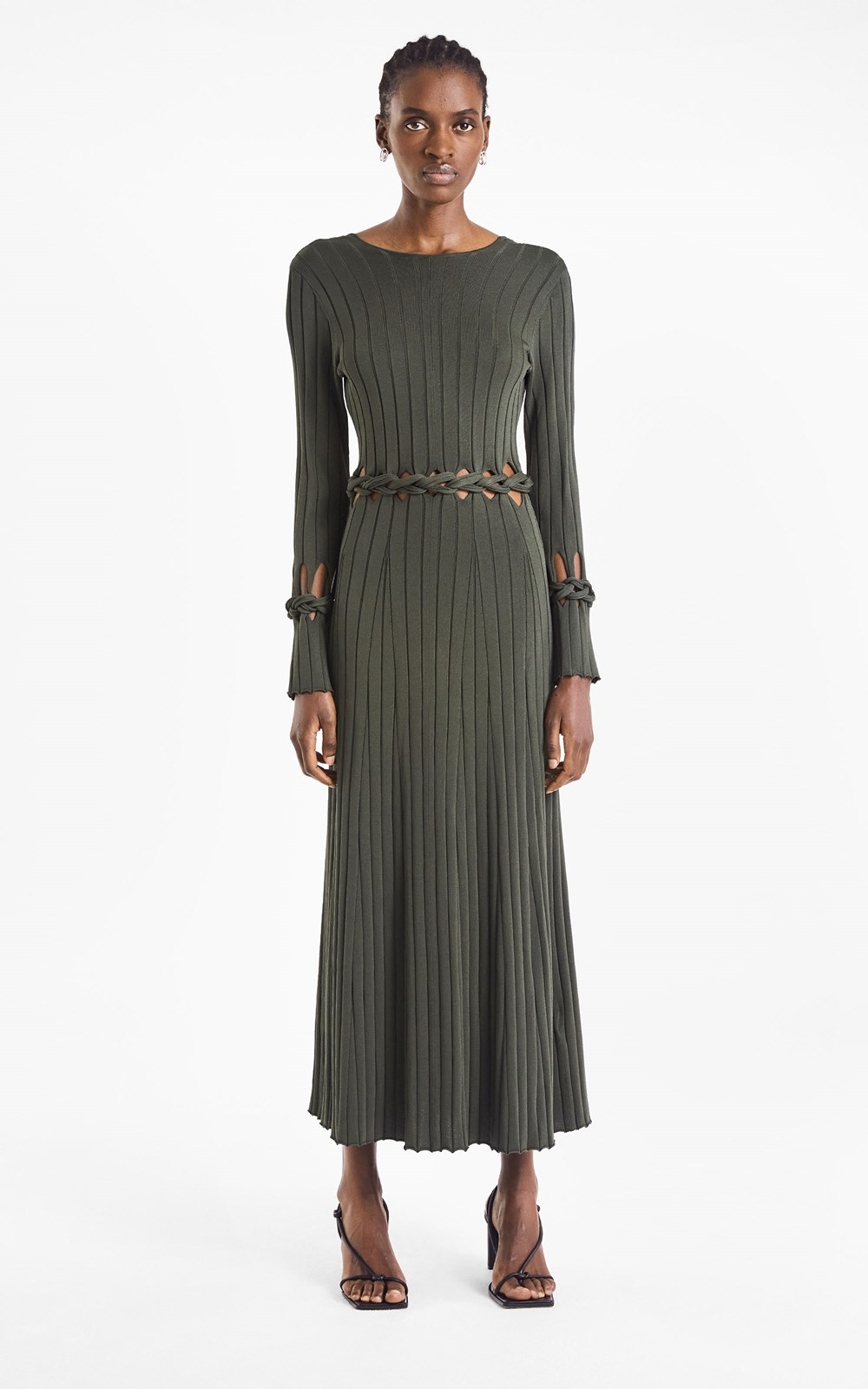 Knitwear | BRAID LS DRESS