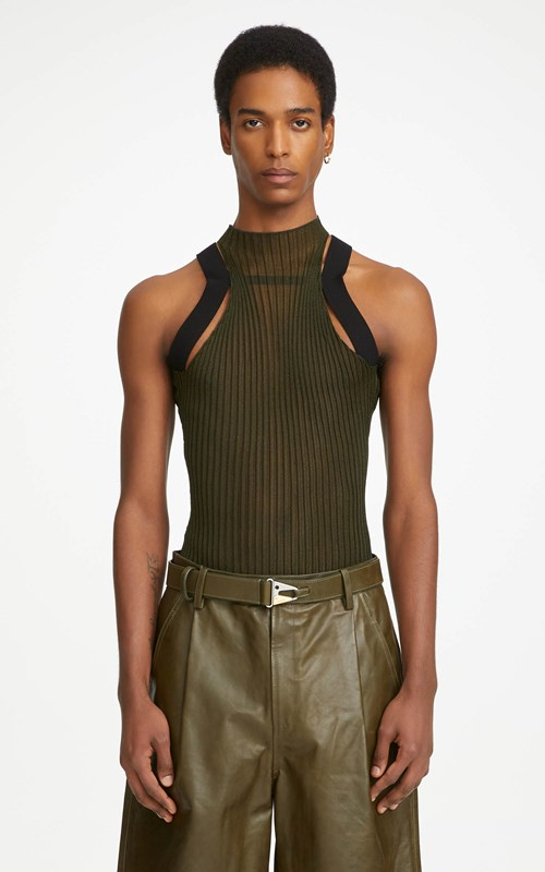Tops | CORRUGATED SHEER TANK