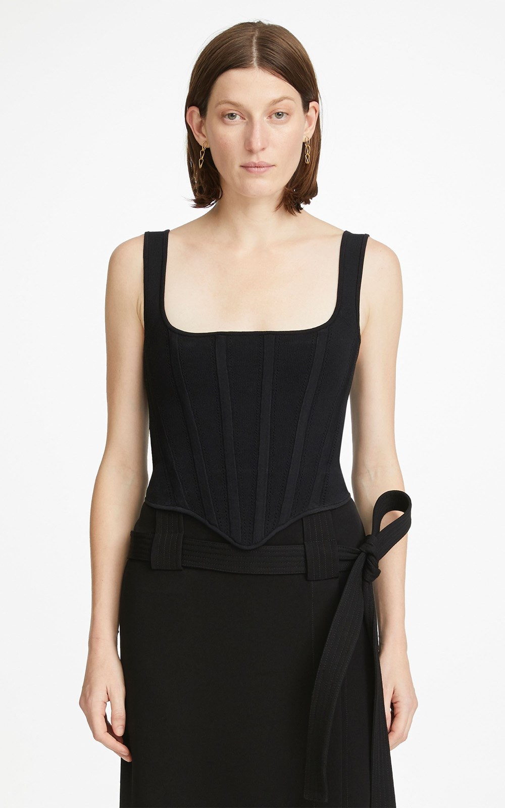 Knitwear | POINTELLE CORSET TOP