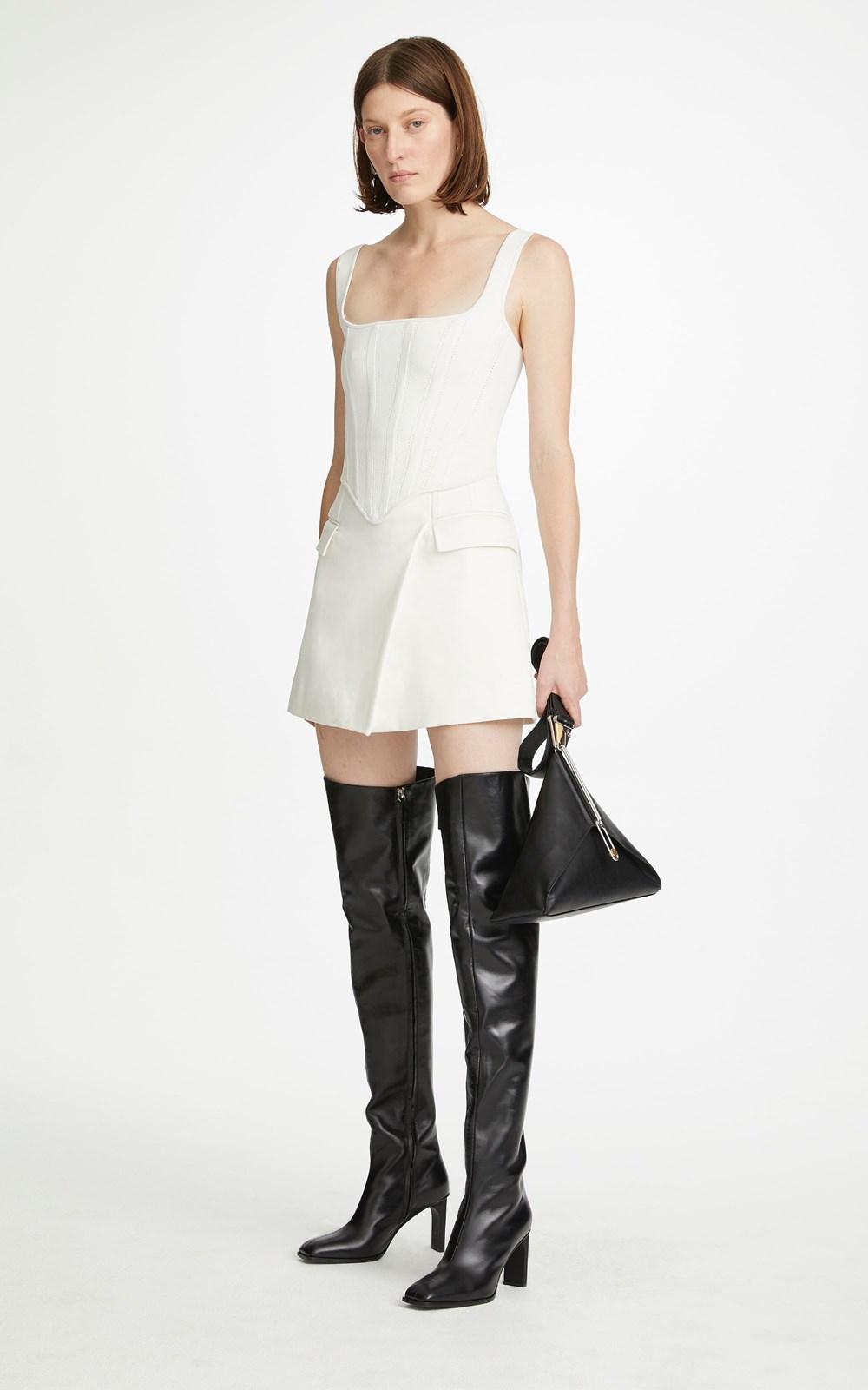 Knitwear | POINTELLE CORSET TOP