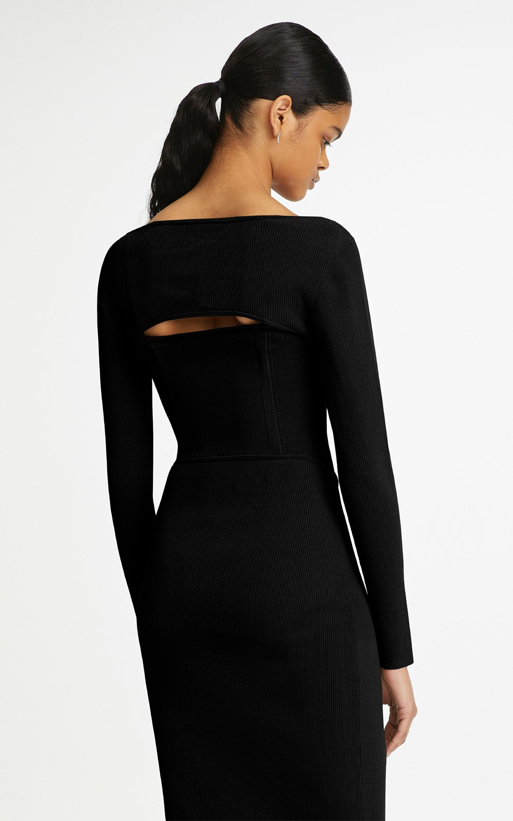 Knitwear | POINTELLE CORSET DRESS