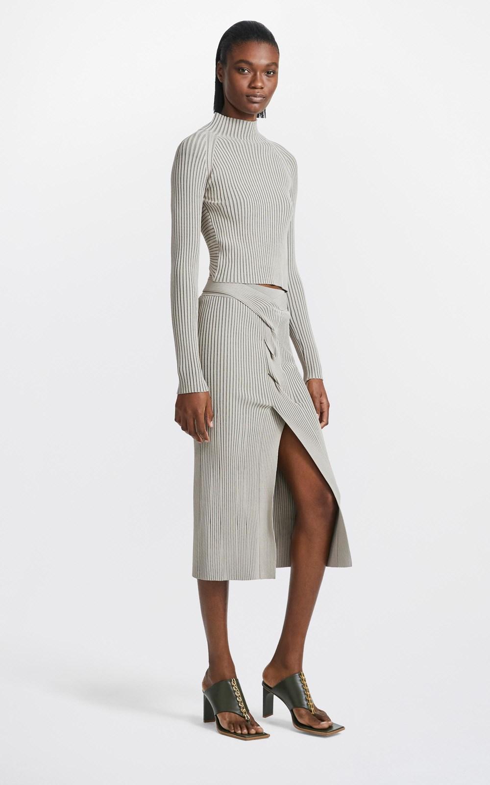 Knitwear | CABLE TWIST SKIRT
