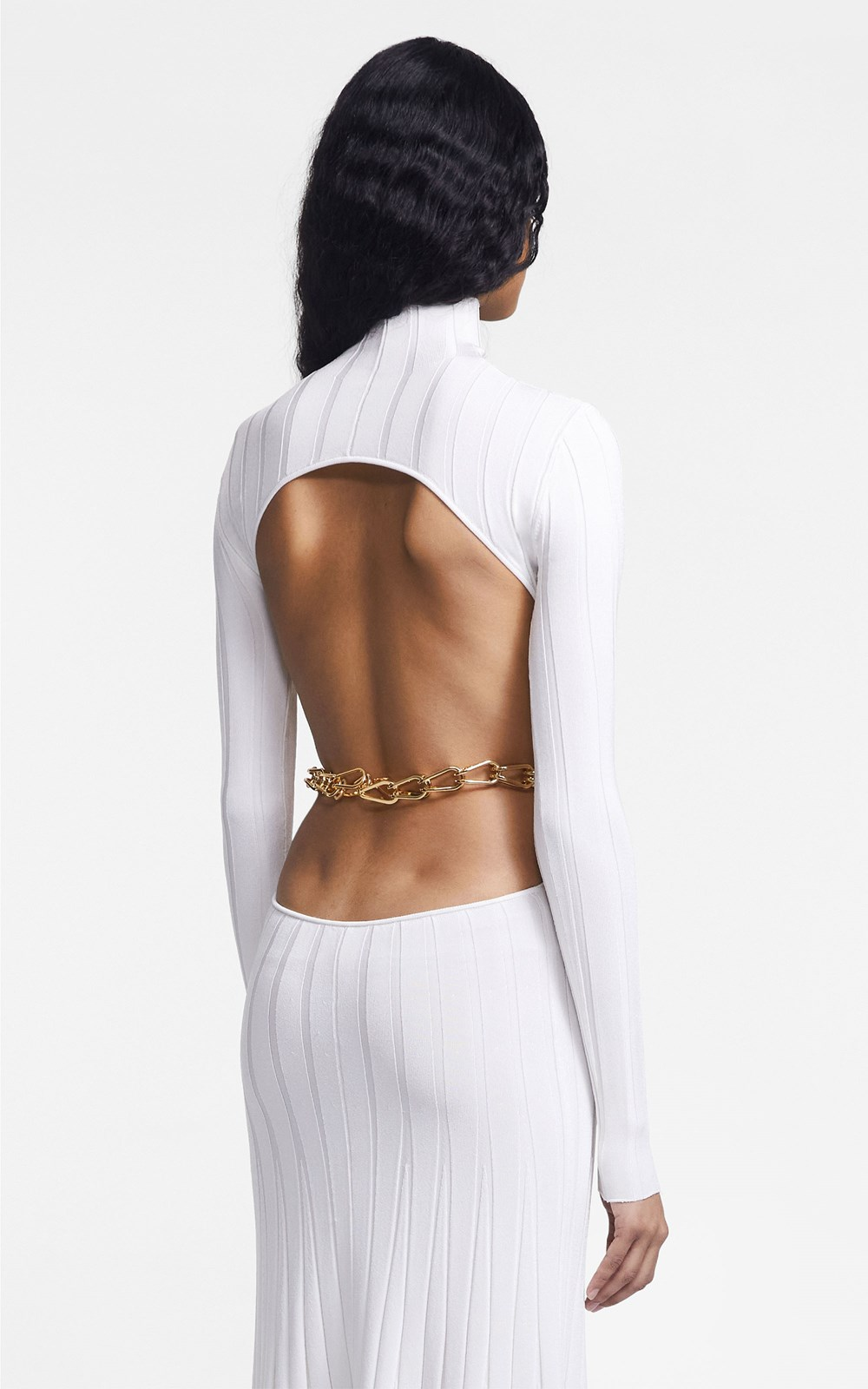 Knitwear   CHAIN LINK LS DRESS