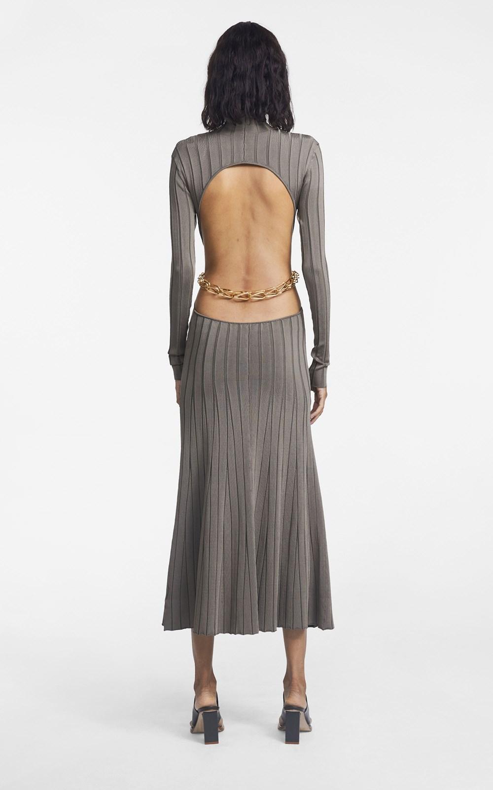 New   | CHAIN LINK LS DRESS