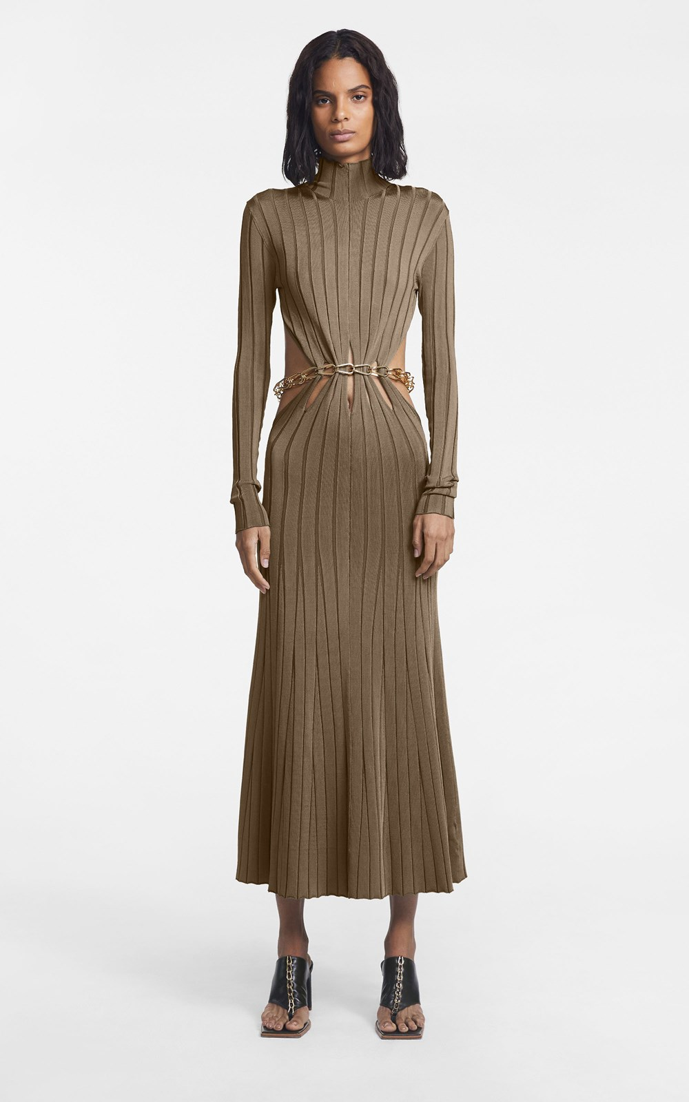Knitwear | CHAIN LINK LS DRESS