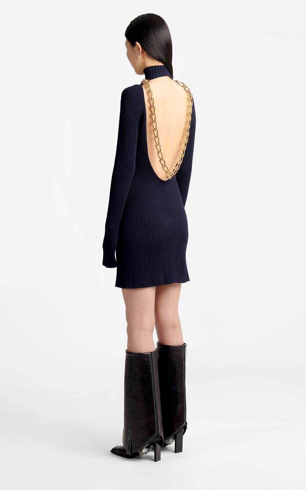 New  | LUSTRATE CHAIN MINI DRESS