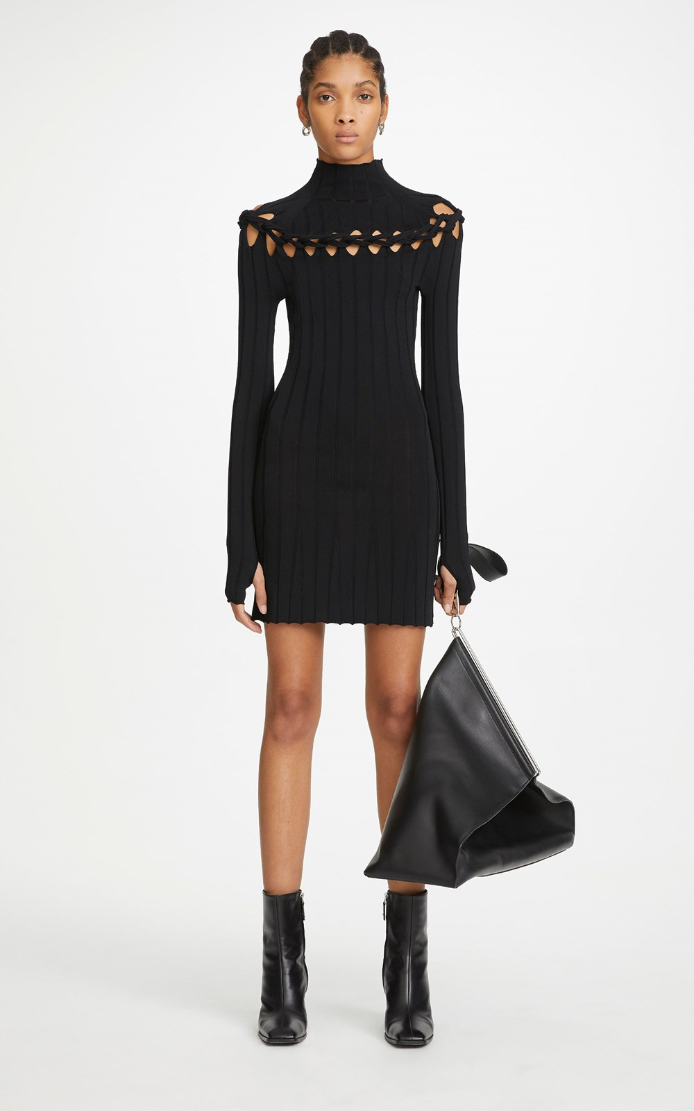 Knitwear | BRAID SKIVVY MINI DRESS