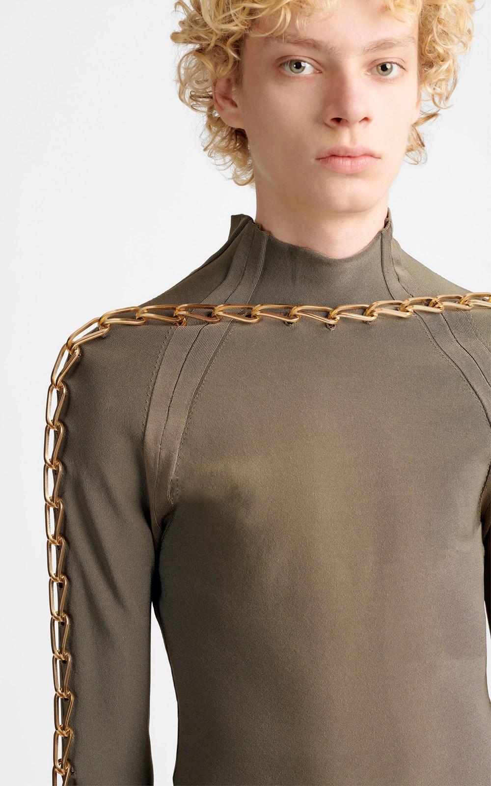 Knitwear | CHAIN LINK LS TOP