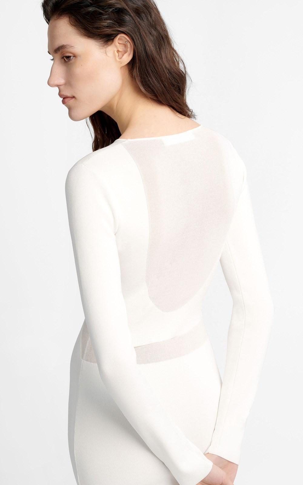 Knitwear | HOSIERY SHADOW LS DRESS