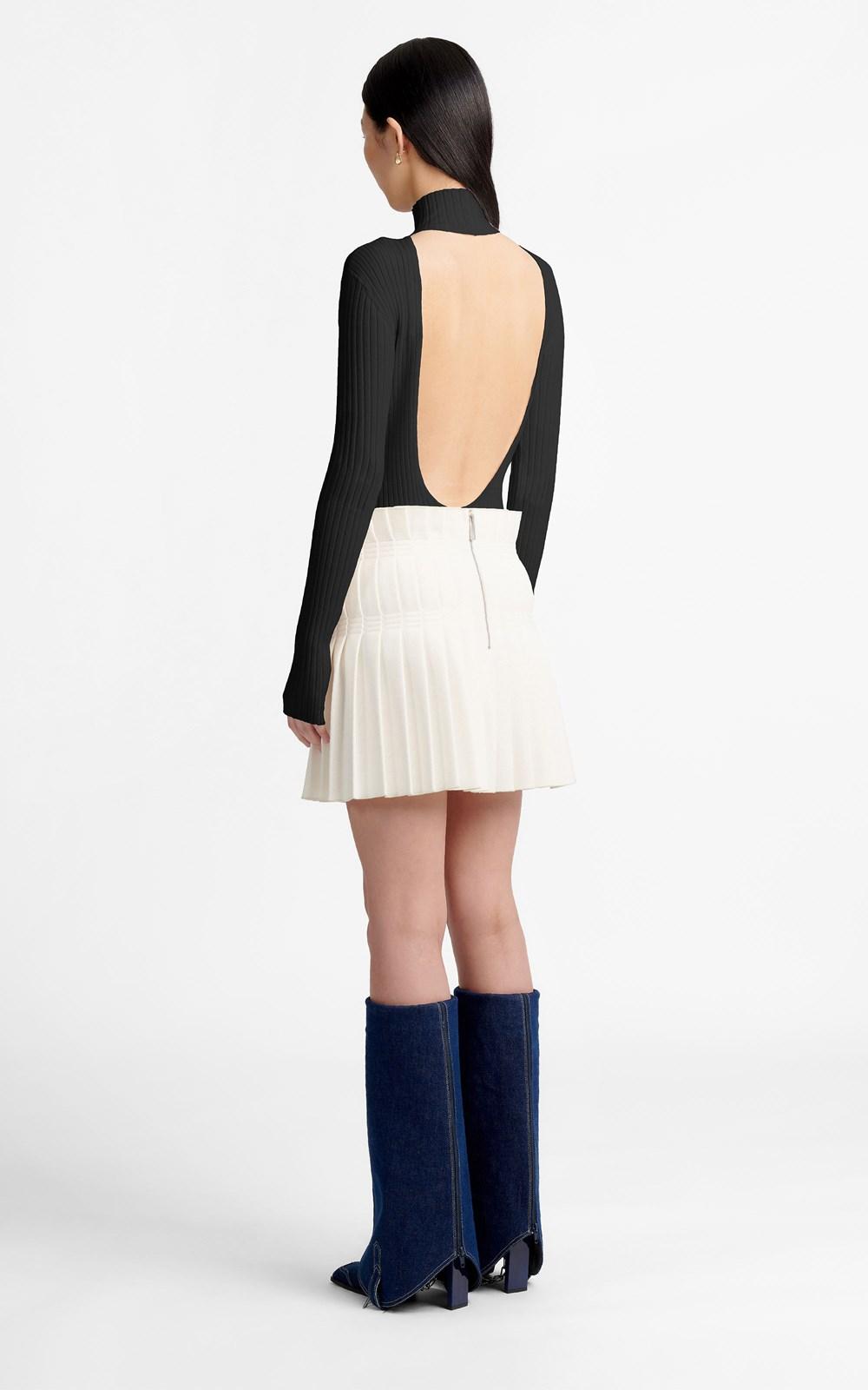 Knitwear | SCOOP BACK LS TOP