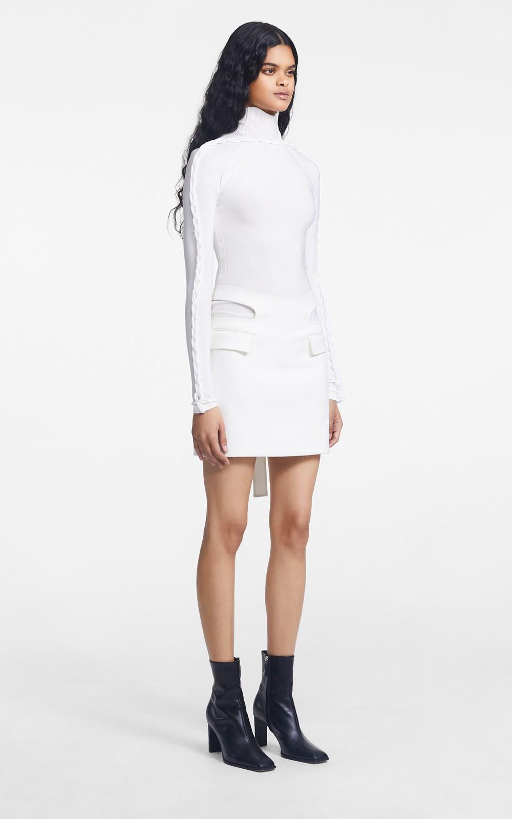 Knitwear | CHAIN BRAIDED LS TOP