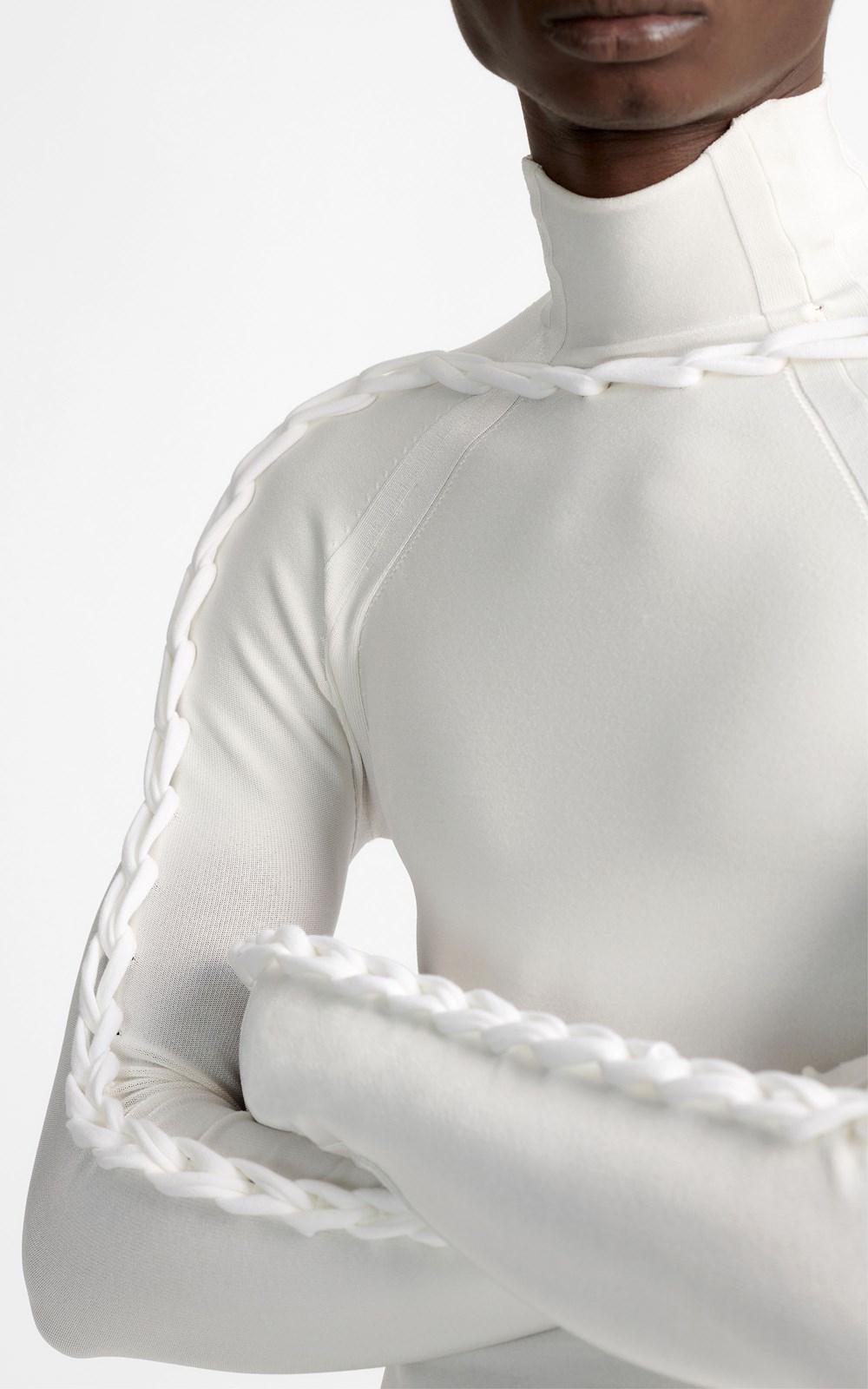 Knitwear   CHAIN BRAIDED LS TOP