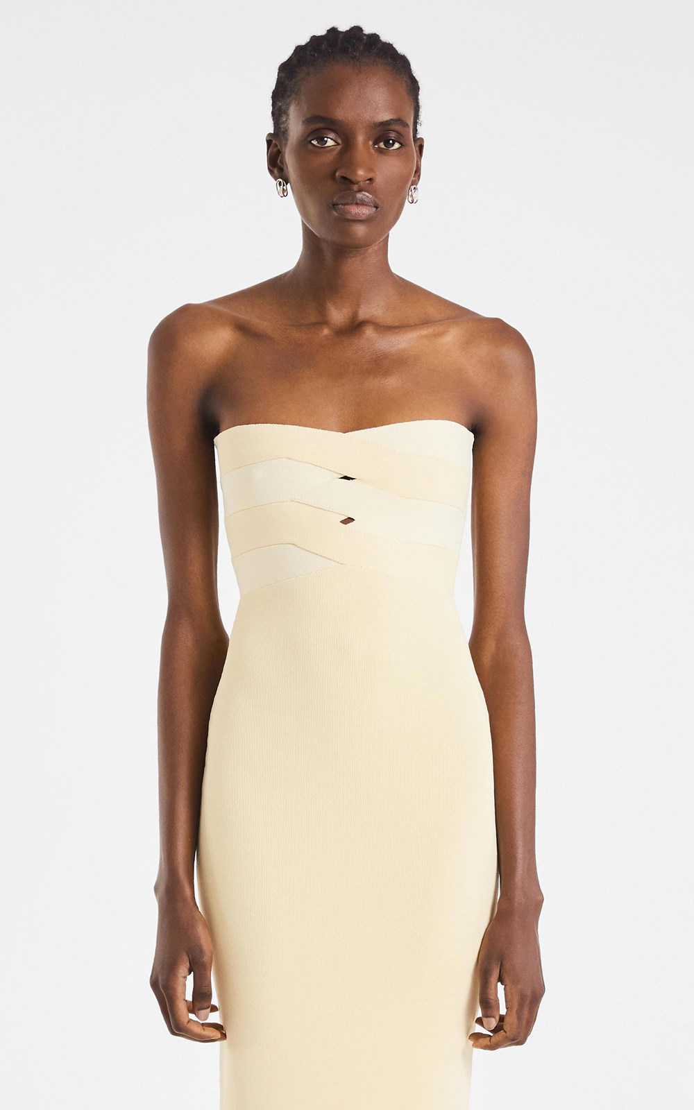Knitwear | INTERLOCK BUSTIER DRESS