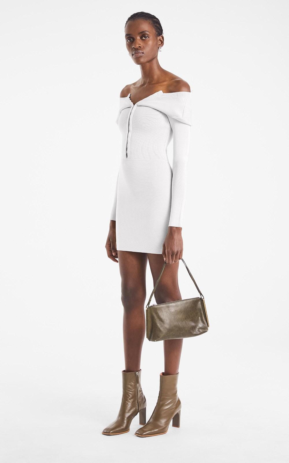 Knitwear  | OPEN NECK MINI DRESS