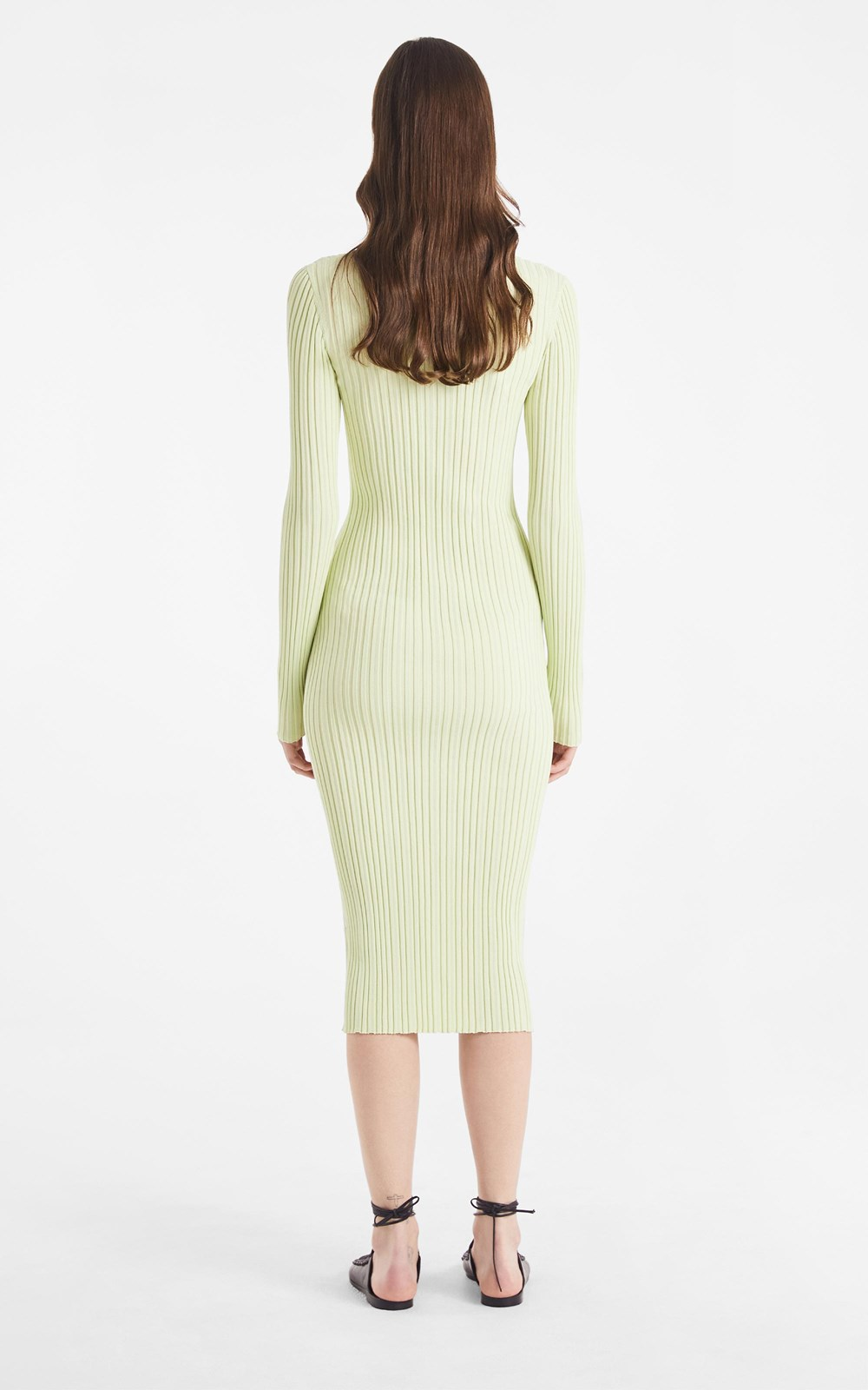 Knitwear  | FLOAT RIB MIDI DRESS