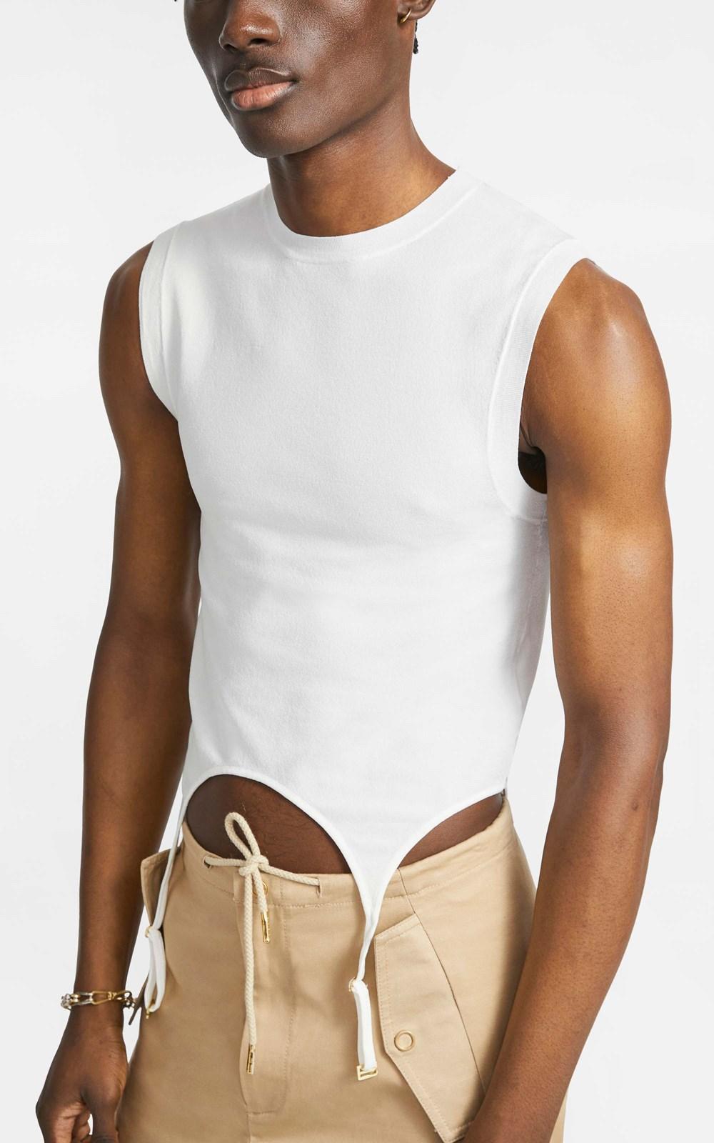 Knitwear | GARTER MUSCLE TANK