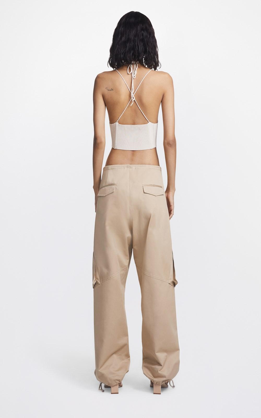 Knitwear  | CROCHET TIE CORSET