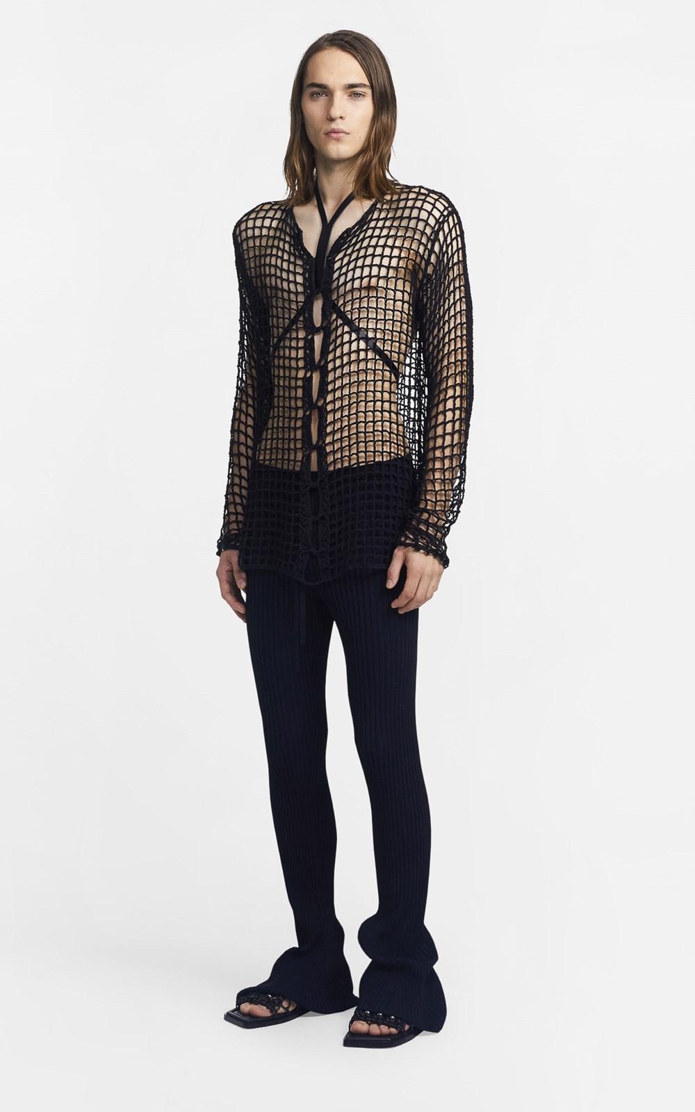 Knitwear | CHAIN CROCHET SWEATER