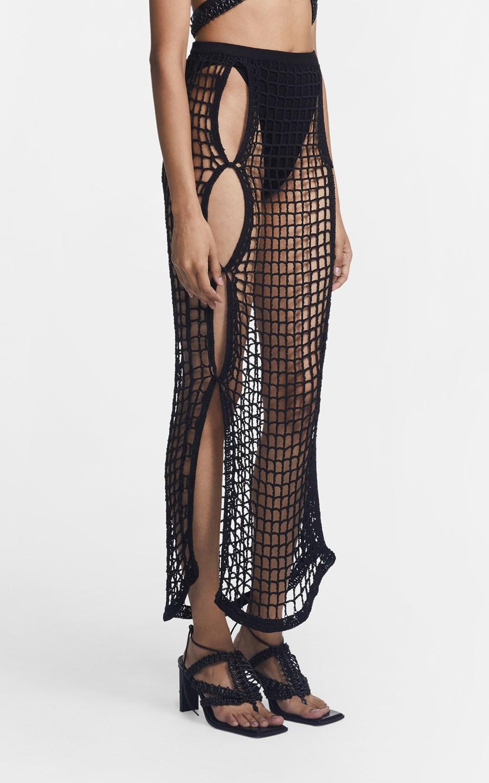 Knitwear | CHAIN CROCHET SKIRT
