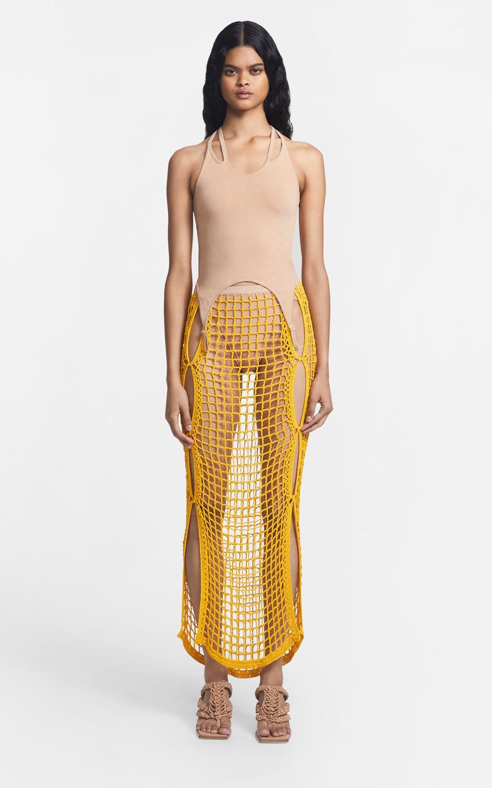 Skirts   CHAIN CROCHET SKIRT
