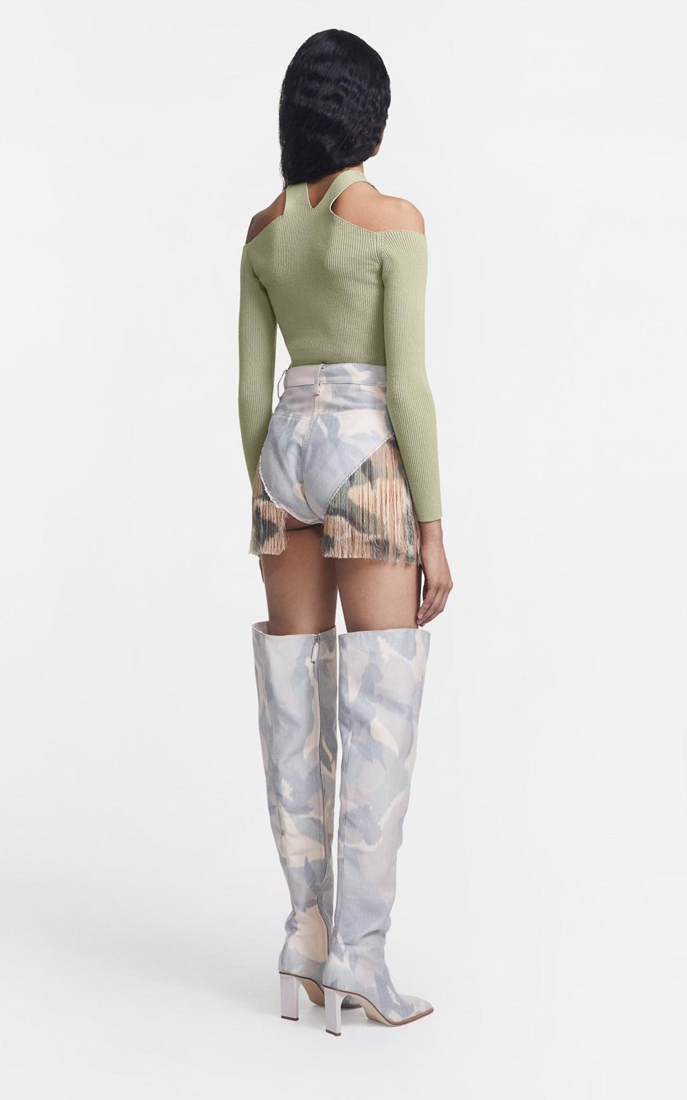 Knitwear | MERINO FORK LS TOP