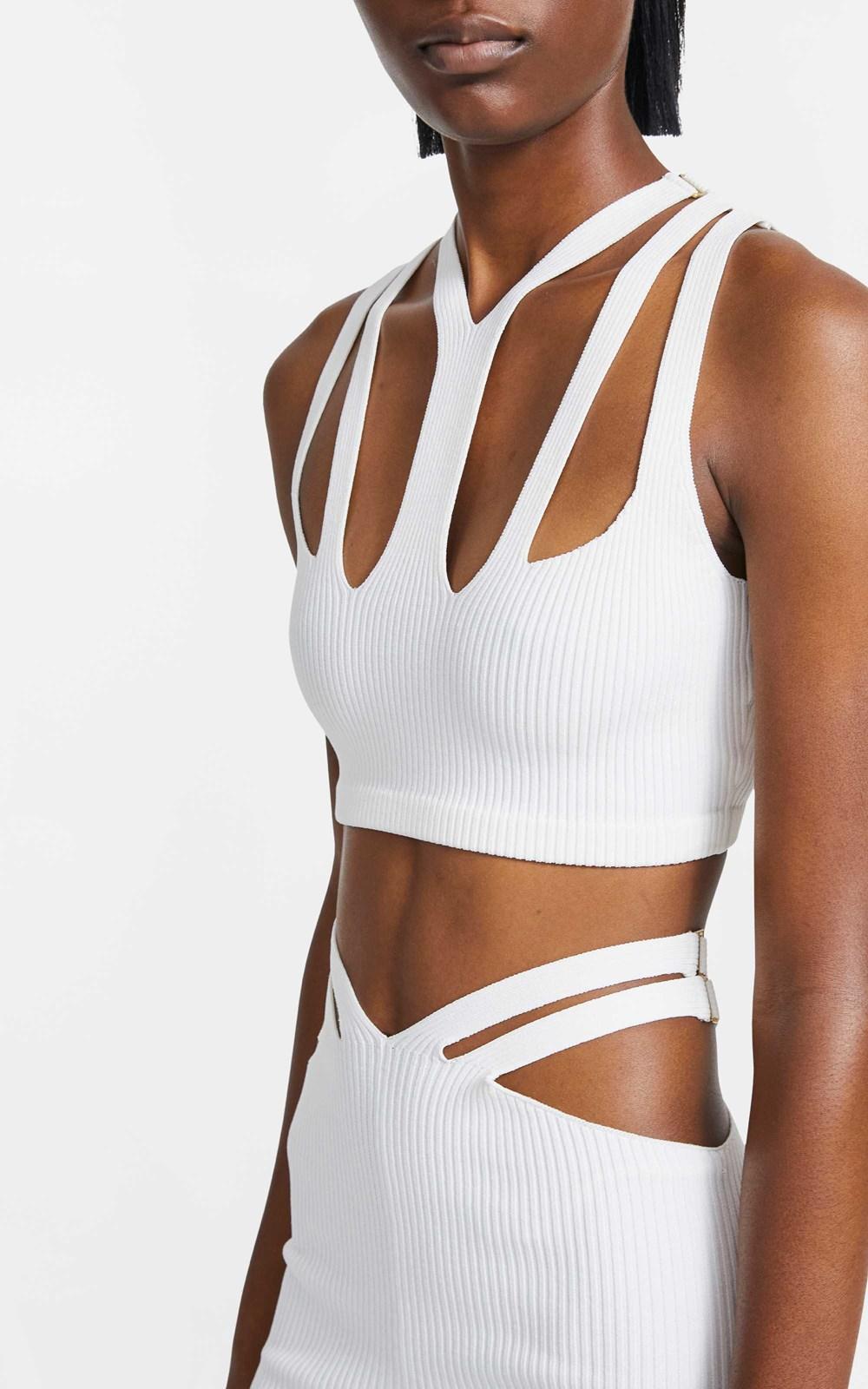 Knitwear | LUSTRATE FORK CROP TOP